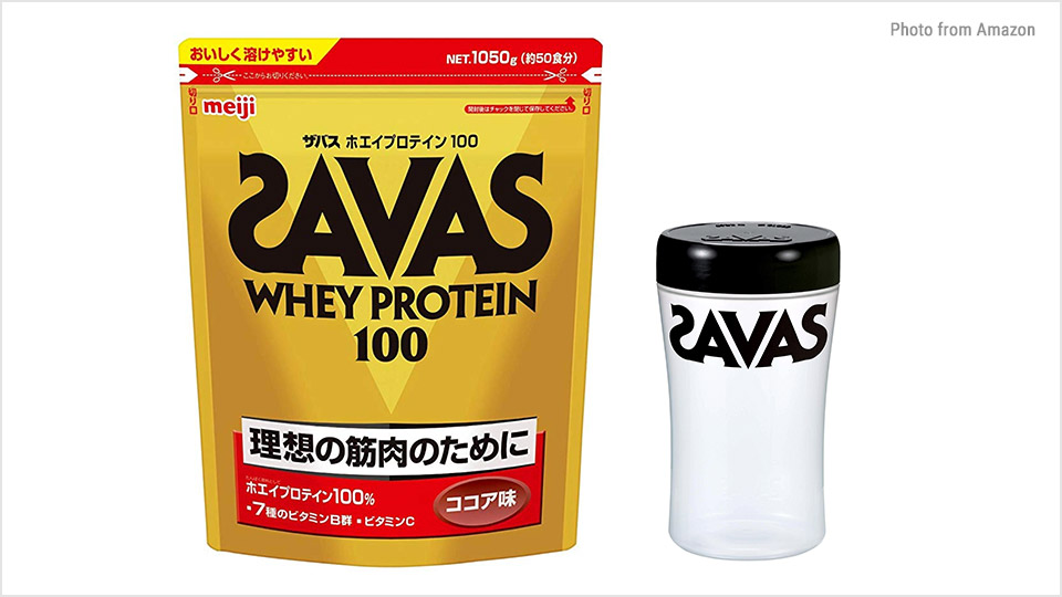 中高年こそプロテインでタンパク質補充:ザバス ホエイプロテイン100 ココア50g